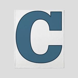 Alphabet C Throw Blanket