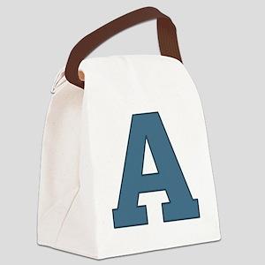 Alphabet A Canvas Lunch Bag