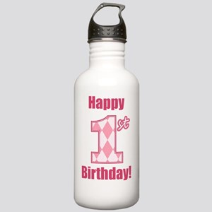 Happy 1st Birthday - P Stainless Water Bottle 1.0L