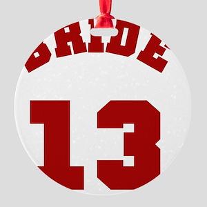 Bride 13 Red Round Ornament