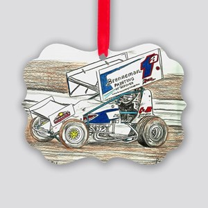 Sprints at Lincoln Picture Ornament