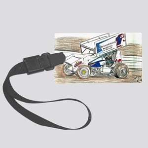 Sprints at Lincoln Large Luggage Tag