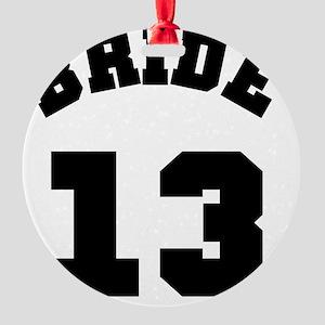 Bride 13 Black Round Ornament