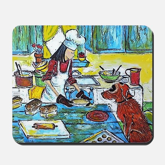 Dog in the Kitchen Mousepad
