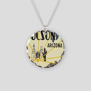 Tucson Arizona Necklace Circle Charm
