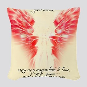Angels Watch Over You Woven Throw Pillow