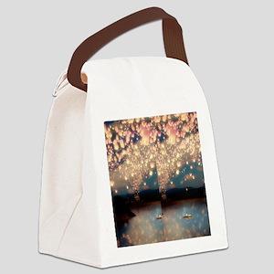 Love wish lantern flip flops Canvas Lunch Bag