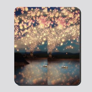 Love wish lantern flip flops Mousepad