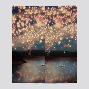Love wish lantern flip flops Throw Blanket