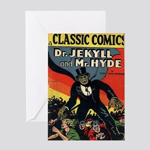 CC No 13 Dr Jekyll and Mr Hyde Greeting Card