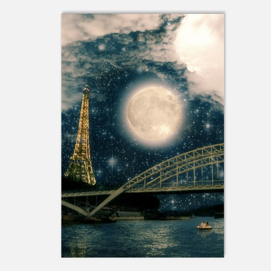 one starry night on paris Postcards (Package of 8)