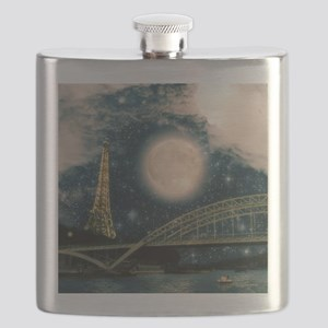 one starry night on paris Flask