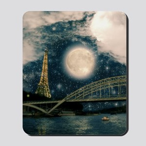 one starry night on paris Mousepad