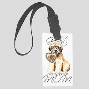 wheaten-mom1 Large Luggage Tag