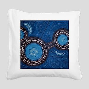 aboriginal Square Canvas Pillow