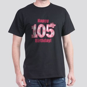 Happy 105th Birthday - Pink Argyle Dark T-Shirt