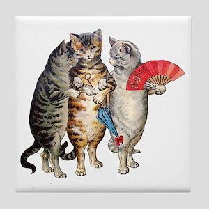 Three Little Kittens Lost Their Mitte Tile Coaster