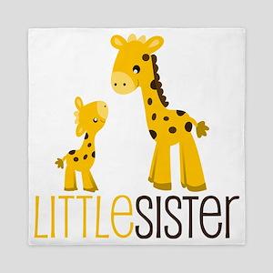 Little Sister Giraffe Queen Duvet