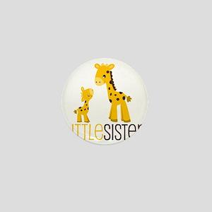 Little Sister Giraffe Mini Button