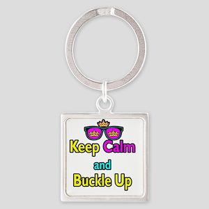 Crown Sunglasses Keep Calm And Buc Square Keychain