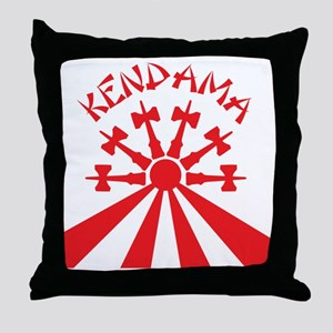 red Kendama Sun b Throw Pillow