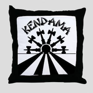 blk Kendama Sun Throw Pillow