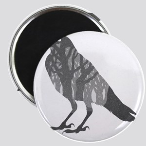Forest Raven Silhouette Magnet