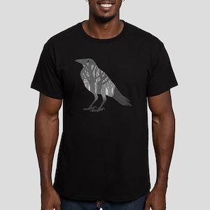 Forest Raven Silhouett Men's Fitted T-Shirt (dark)