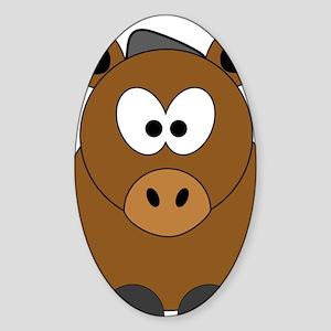 Happy Horse Sticker (Oval)