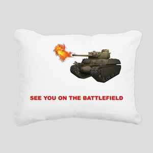 See you on the Battlefie Rectangular Canvas Pillow