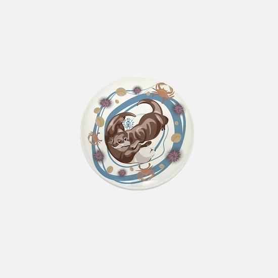 Sleepy Otters Mini Button