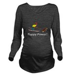 Puppy Power Long Sleeve Maternity T-Shirt