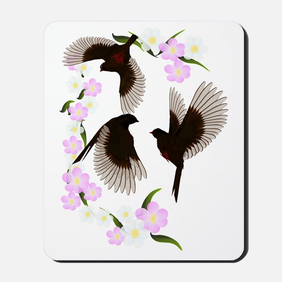 Three Sparrows Trans Mousepad