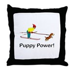 Puppy Power Throw Pillow