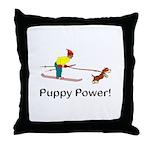 Puppy Power Throw Pillow