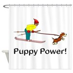 Puppy Power Shower Curtain