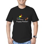Puppy Power Men's Fitted T-Shirt (dark)