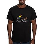 Puppy Power Men's Fitted T-Shirt (dark)