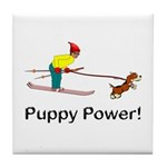 Puppy Power Tile Coaster