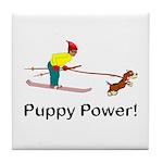 Puppy Power Tile Coaster