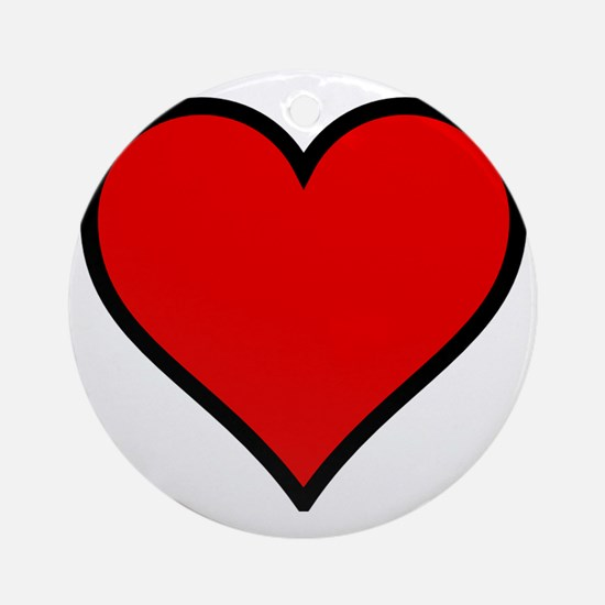 Love Heart Round Ornament