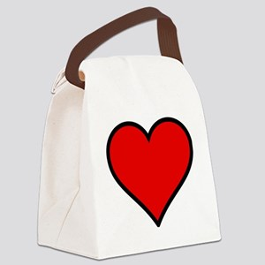 Love Heart Canvas Lunch Bag