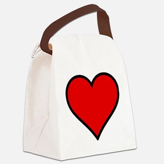 Love Heart Canvas Lunch Bag