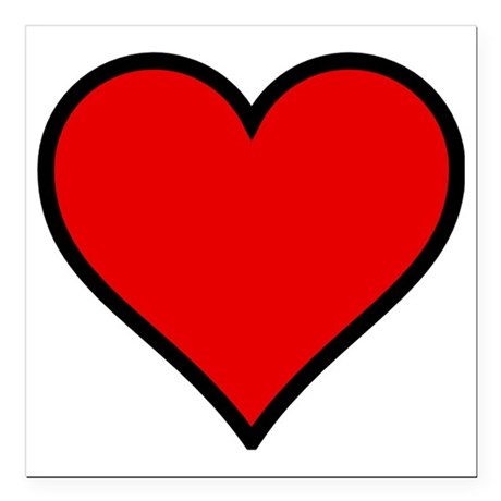 Love Heart Square Car Magnet 3 X 3 By Admincp6935123