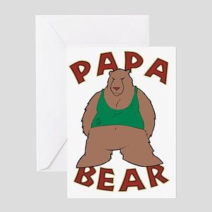 Papa Bear - Brown Greeting Card