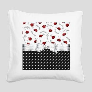 Little Ladybugs Square Canvas Pillow