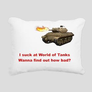 I suck at World of Tanks Rectangular Canvas Pillow
