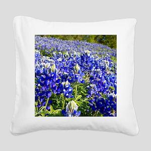 Fields of Bluebonnets Square Canvas Pillow