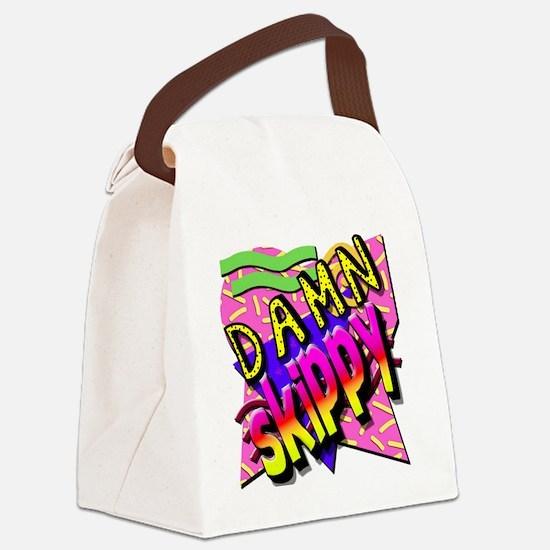 Damn Skippy Canvas Lunch Bag