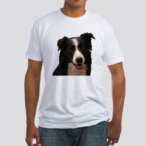 Border smile Fitted T-Shirt